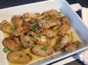 Lemon, honey, garlic chicken wings recipe