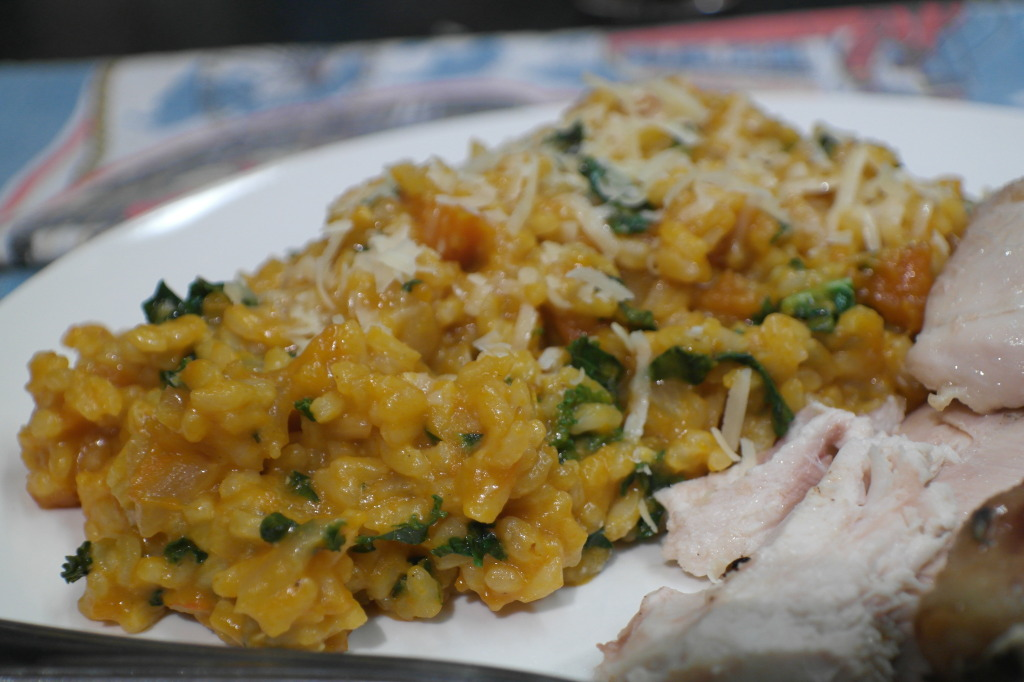 kale and pumpkin risotto