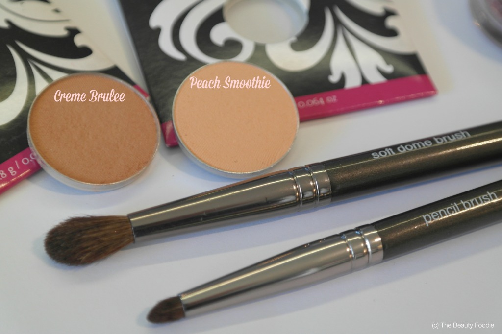 makeup geek peach smoothie and creme brulee