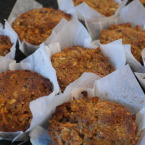 Carrot, date and nutty muffins