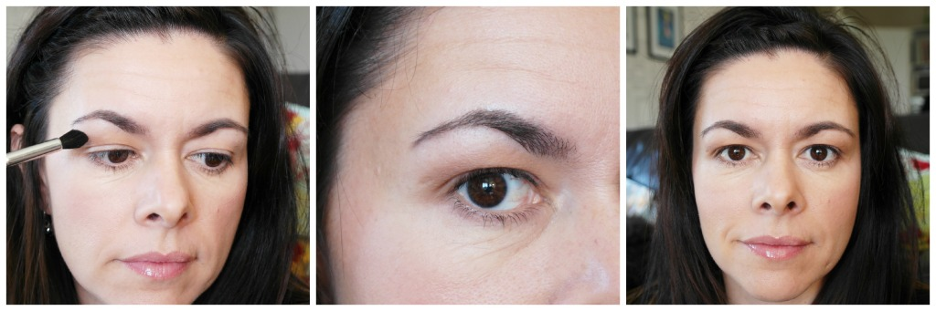 Using a fluffy blending eyeshadow brush apply the matt brown colour through your crease (bring it up high if you have hooded eyelids like me!)