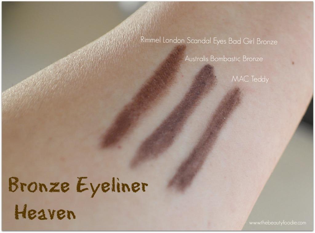 Australis Bombastic Bronze eyeliner review