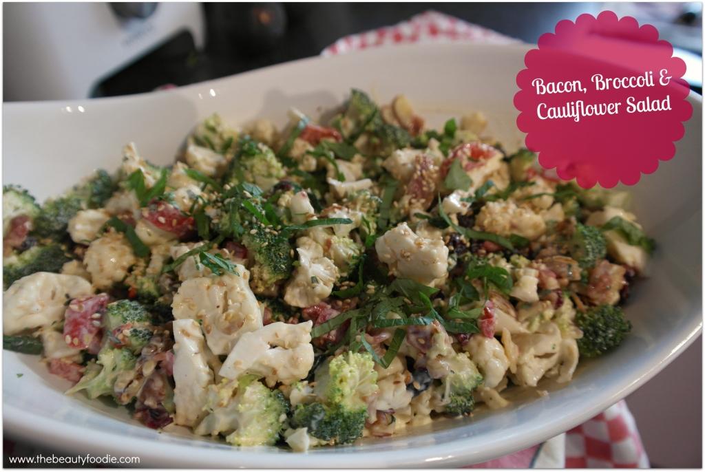 bacon broccoli and cauliflower salad