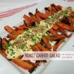 roast carrot salad spiced yoghurt dip dukkah