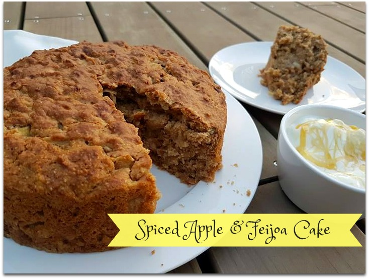 Spiced apple and feijoa cake recipe