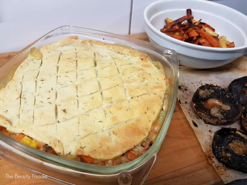 Chicken Pie with Herby Cobbler Topping 4