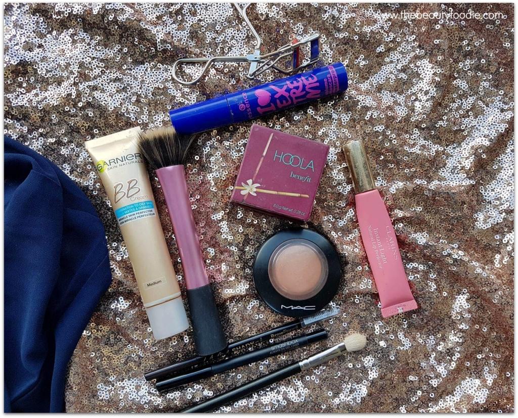 Emergency makeup look