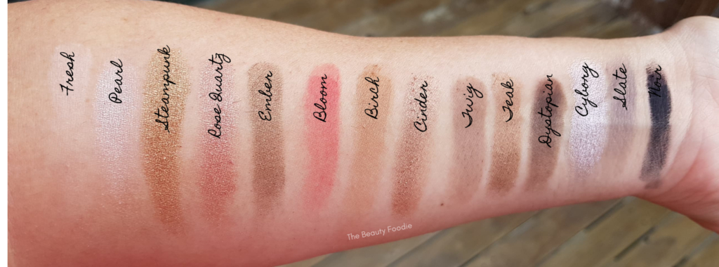 sultry palette swatches