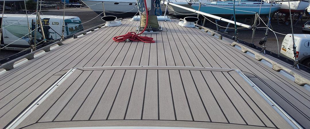 Synthetic teak deck