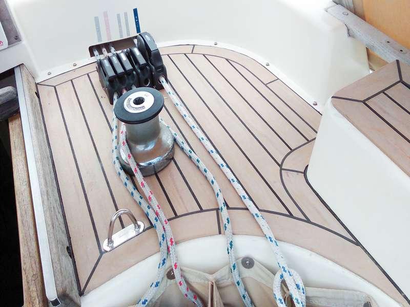 Synthetic teak decking