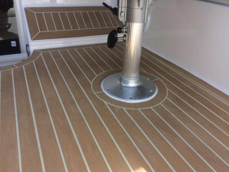 Easy maintenance synthetic teak decking
