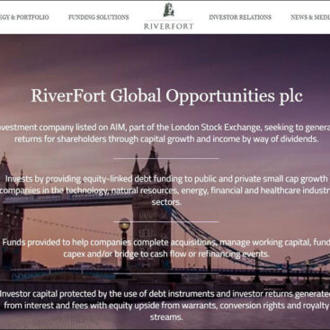 Riverfort Global Opportunities website developed and managed by Corporates Online