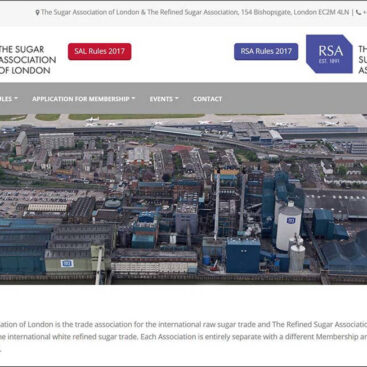 Sugar Association of London and Refined Sugar Assocation website by Corporates Online
