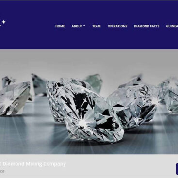 Pan-African Diamonds website designed and developed by Corporates Online