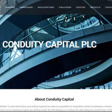 Conduity Capital PLC, website by Corporates Online
