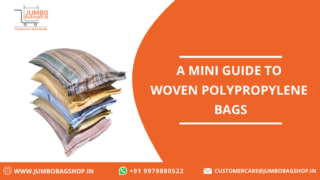 A mini guide woven polypropylene bags