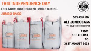 Avail Our Independence Day Offer and Enjoy Jumbo Savings on Our Jumbo Bags!
