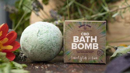 Sweet Pink Eucalyptus & Lime CBD Bath Bomb
