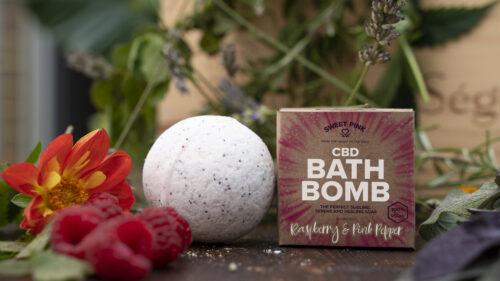 Sweet Pink - Raspberry & Pink Pepper - CBD Bath Bomb