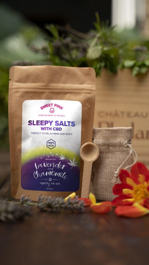 Sweet Pink - Lavender & Chamomile Sleepy - CBD Bath Salts