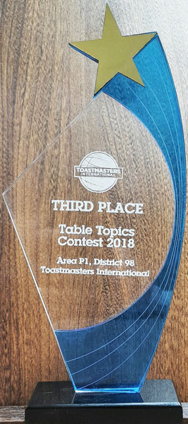 Toastmasters Table Topics Contest 2018