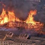 Three Alarm Fire: Apartment Complex under Construction ignites