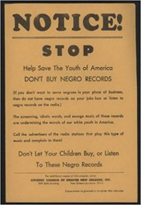 """Don't Buy Negro Records"""