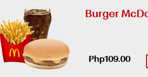 Burger Mcdo Meal