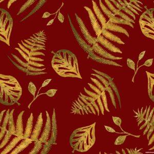 Eadiechops Ladies Wine Gold Leaf Self Tie Wrap