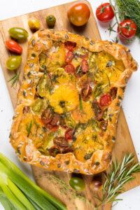 Galette cu roșii și mozzarella