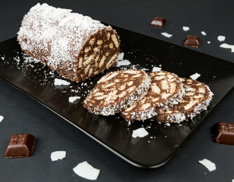 Salam de biscuiți (vegan)