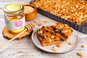 Prăjitură cu unt de arahide și gem