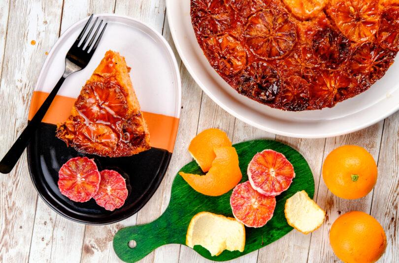 Tort cu portocale roșii și Aperol