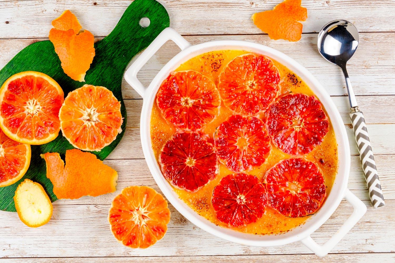 Crème Brûlée cu portocale roșii
