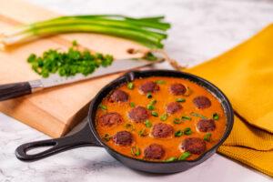 Chifteluțe veggie cu sos indian