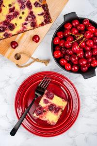 Negresă cu brânză și cireșe