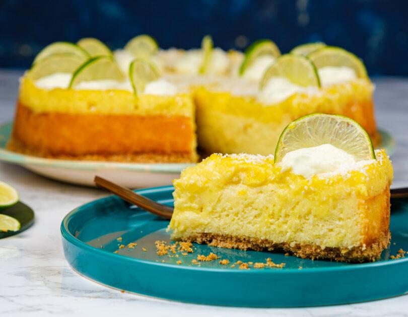 Cheesecake cu lime și cocos