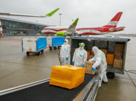 airBaltic Carries Face Masks and Respirators to Latvia