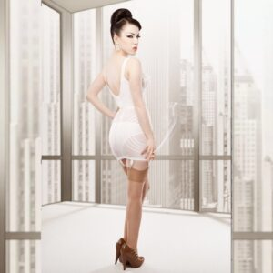 Rago shapewear 1359 Girdle in White with FREE Pretty Polly stockings worth £12.99