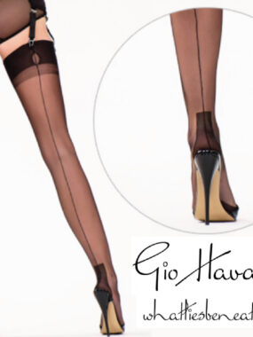 Gio Fully Fashioned Stockings - HAVANA black