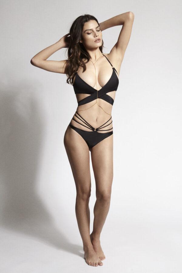 Edge o' Beyond FRANCESCA Strappy Bikini in Black