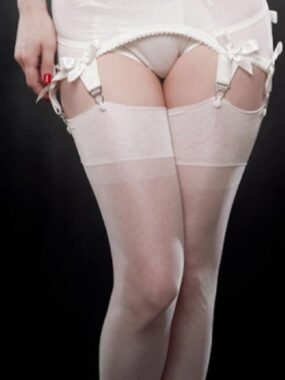 Gio Fully Fashioned Stockings - CUBAN or POINT in IVORY - PERFECTS