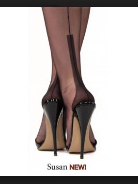 Gio Fully Fashioned Stockings - SUSAN black