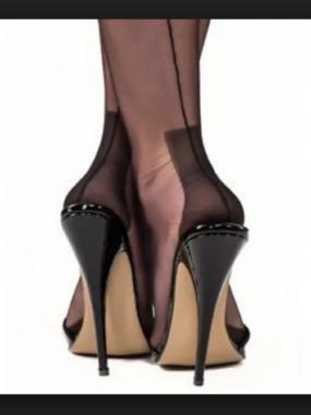 Gio Fully Fashioned Stockings - HAVANA black