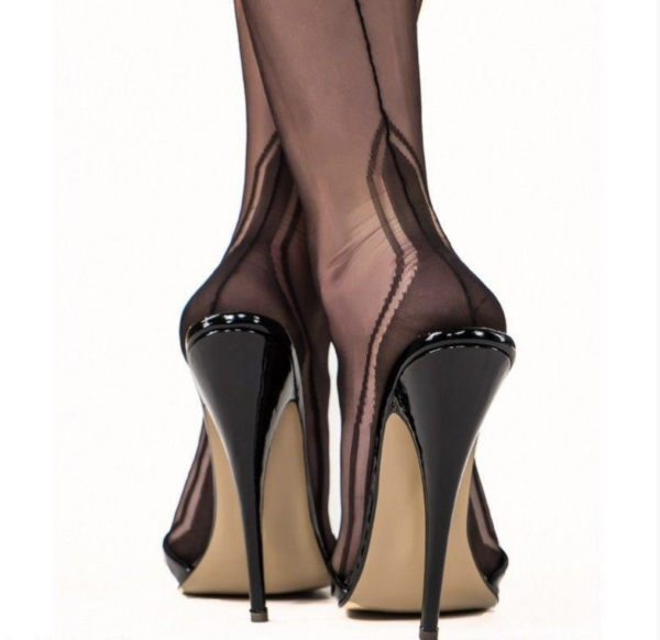 Gio Fully Fashioned Stockings - Manhattan Black