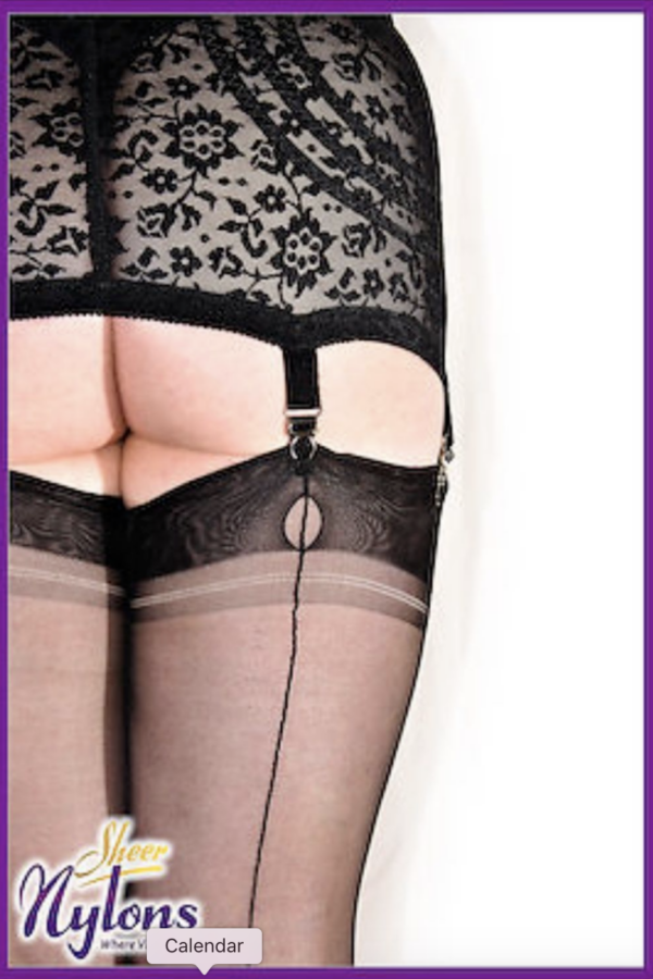 Gio Seconds Fully Fashioned POINT Stockings in Bold Black, Barely Black & Cheeky Chocolate