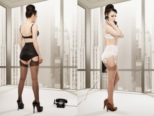 Rago shapewear 72522 Suspender Belt in White