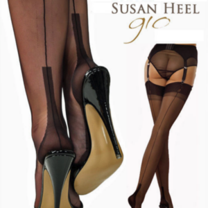 Gio Fully Fashioned Stockings - SUSAN black