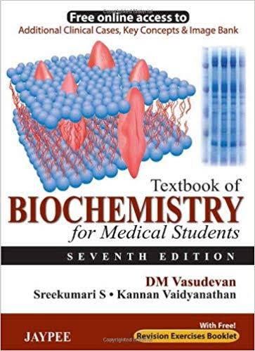 DM Vasudevan Biochemistry PDF