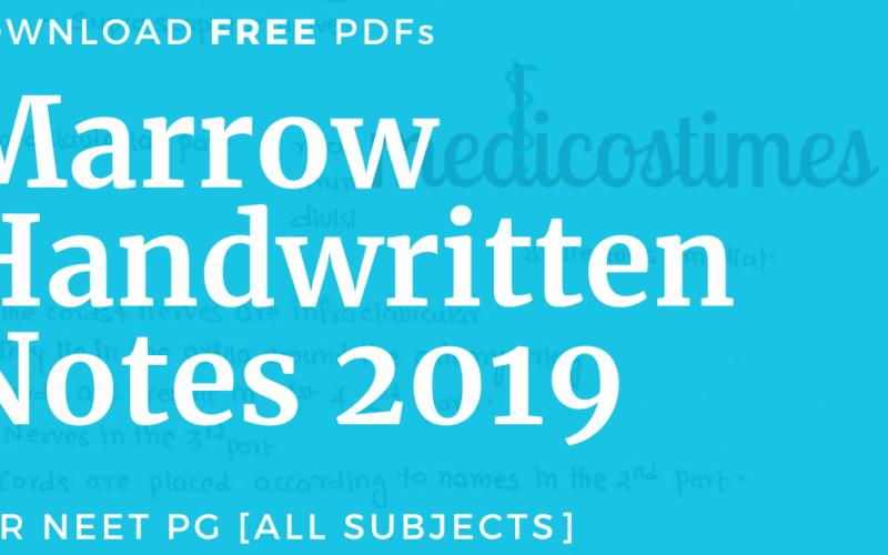 Marrow Handwritten Notes 2019 PDF